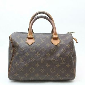 Auth Louis Vuitton Speedy 25 Boston Bag #1023L16